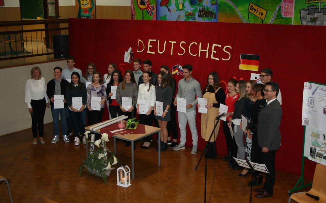 Svečana podelitev diplom DSD 1 na Srednji šoli Črnomelj
