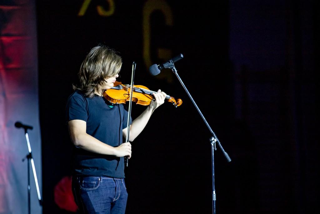Matevž Lesica Štirn iz 1. bG ob izvajanju skladbe Franza Drdle Concertino opus 225. Foto: Tina Stariha, 4. bG