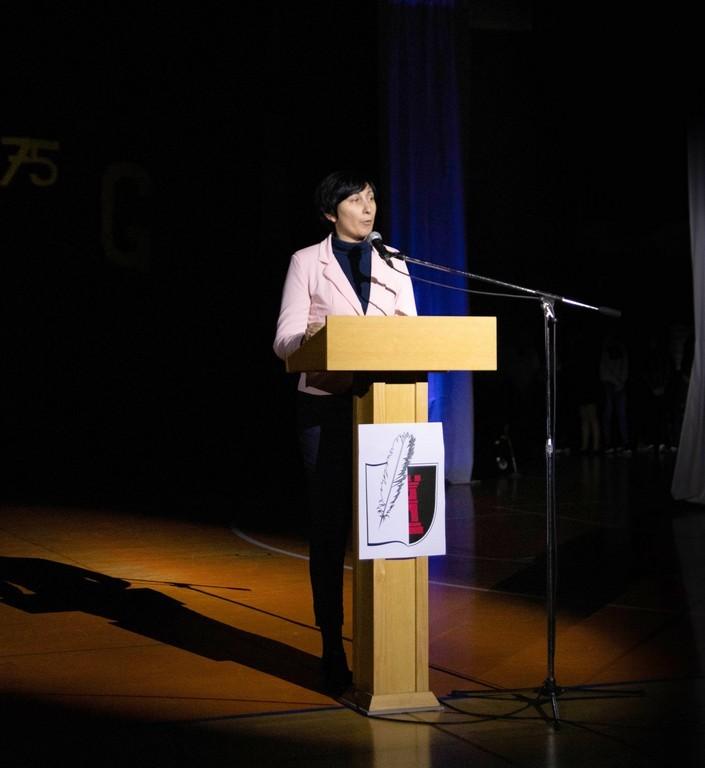 Nagovor dr. Maje Pucelj, svetovalke ministra na Ministrstvu za izobraževanje, znanost in šport. Foto: Maj Perko, 4. bG