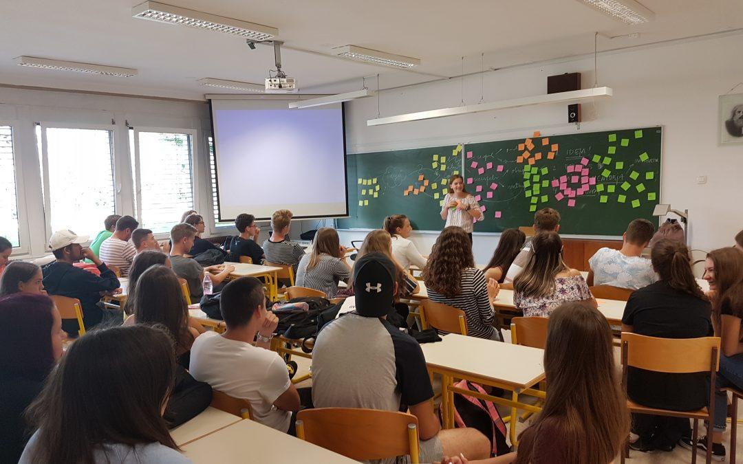 Predavanje o podjetniškem inkubatorju na Srednji šoli Črnomelj